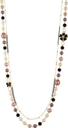 Black & Gold Pearl Necklace - Coco House