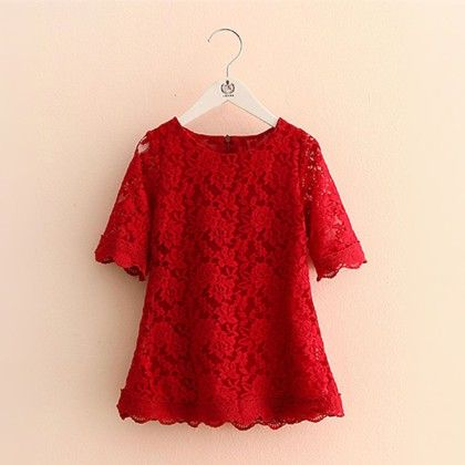 Summer Special Maroon Lace Dress - Mauve Collection