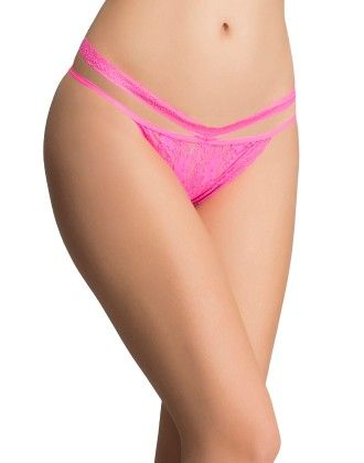 Clovia Lacy Bikini In Hot Pink