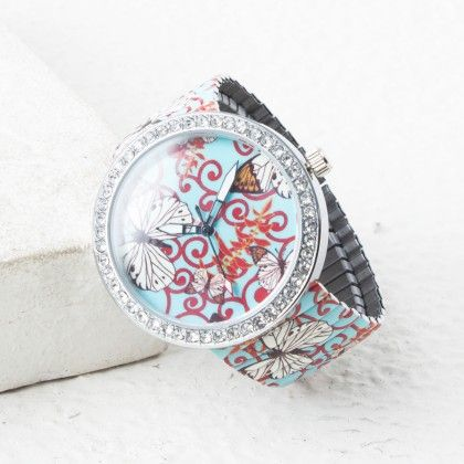 White Butterfly And Red Design - Mirta