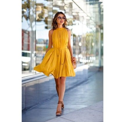Evening Party Beach Mini Dress - Yellow - STUPA FASHION