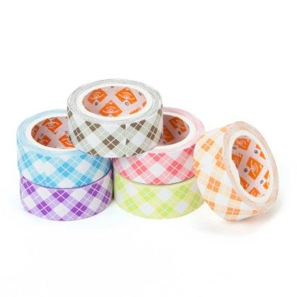 Set Of 6 Paper Tapes With Checks Design (15mm) - It's All About Me