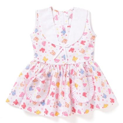 My Rabbit - Printed Dress White & Pink - BownBee