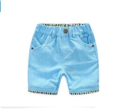 Cute Blue Summer Cotton Shorts - Mauve Collection