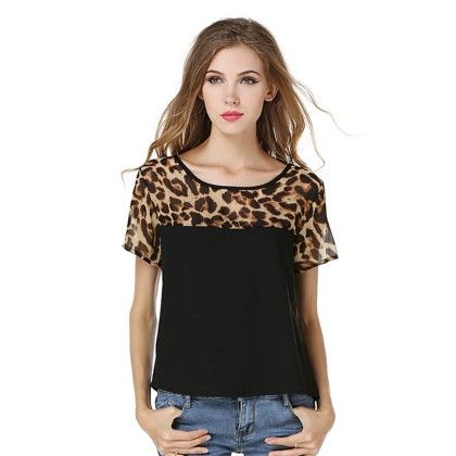 Black Tiger Print Top - Dell's World