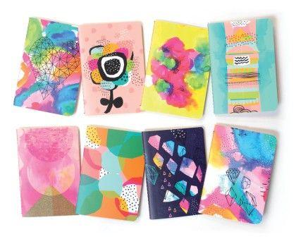 Pocket Pal Mini Journals - Set Of 8 -abstract - International Arrivals