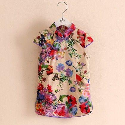 Stylish Short Printed Tunic Dress - Mauve Collection