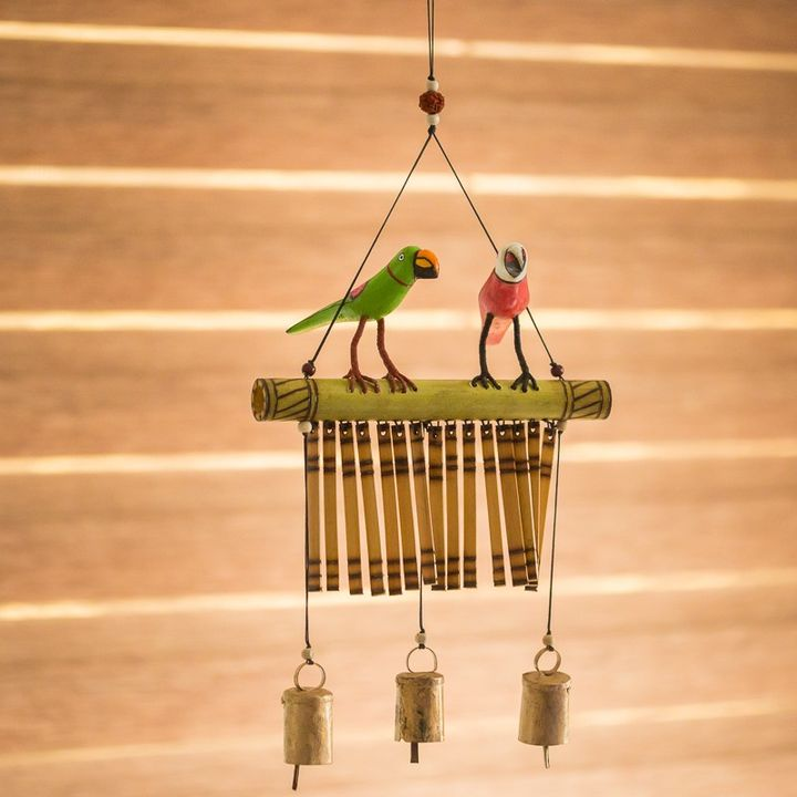 Bird Collection Wooden Hand Painted Decorative Wind Chime