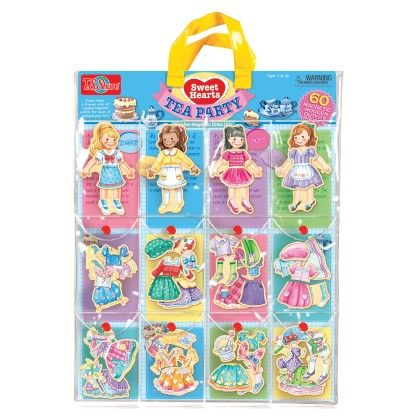 Sweets Hearts Tea Party Wooden Magnetic Dress Up Dolls - TS Shure