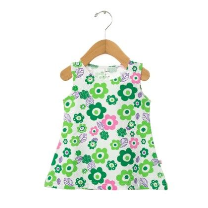 Green Floral Printed Frock - Chocoberry