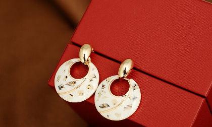 Yin And Yang Drop Earrings - The Purple Present