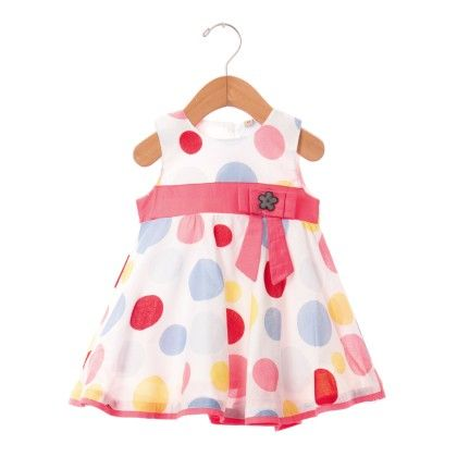 Big Polka Dot Printed Dress - Red - O'Carina