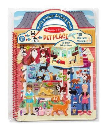 Puffy Sticker Activity Book - Pet Place - Melissa & Doug