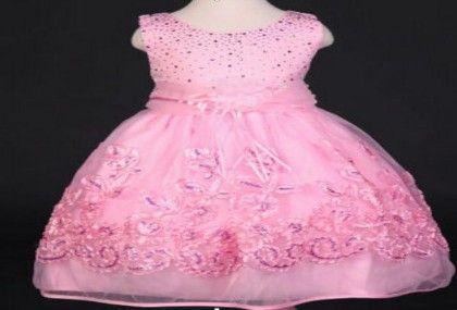 Pink Lace Flower Design Party Dress - MeiQ