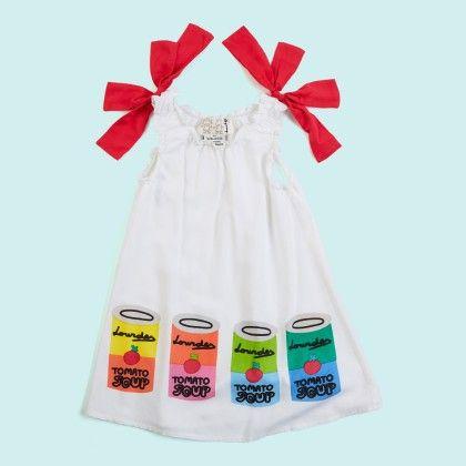 Pop Art White Tie Up Dress - Lourdes