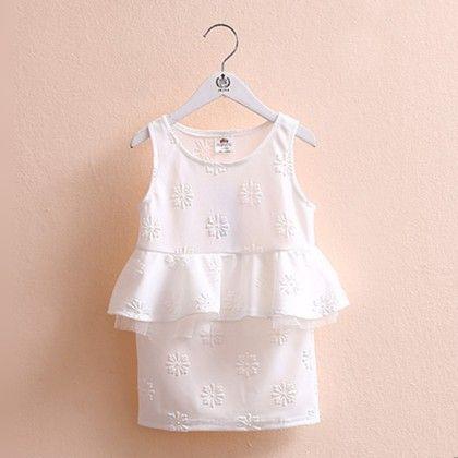 Pretty Peplum White Dress - Mauve Collection