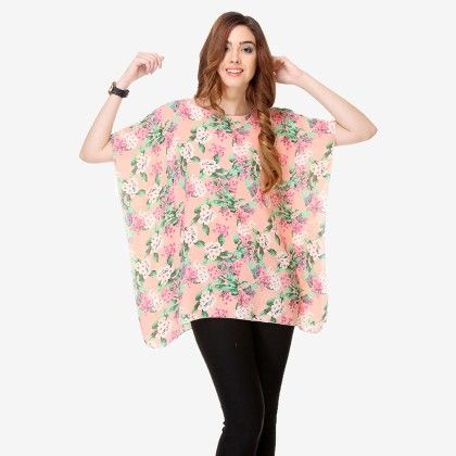 Multi Colored Chiffon Printed Top - Varanga - 325735