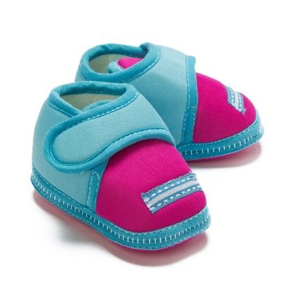 Baby Booties In Blue And Pink - Bubbles