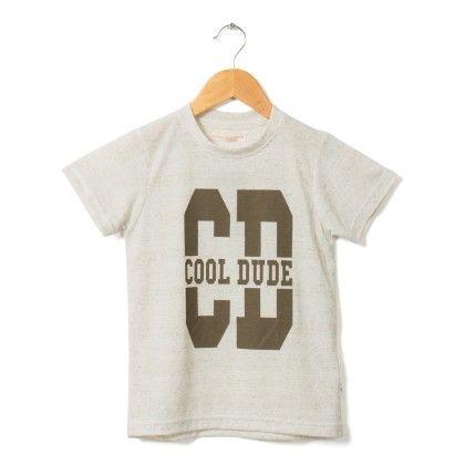 Off White Cool Dude Printed T-shirt - Raine & Jaine