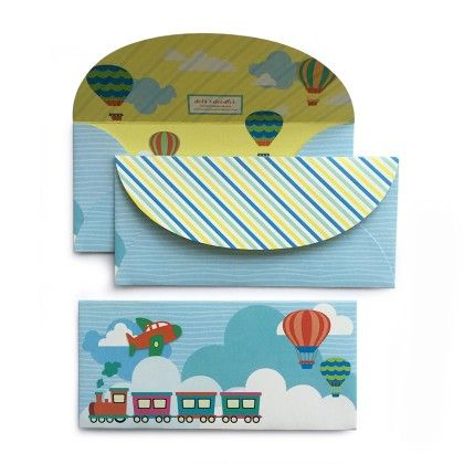 Party Train Envelope - Dots & Doodles