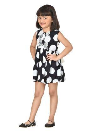 Peppermint Polo Crisp Short Dress With Dainty Frills - Masaba For Magic Fairy