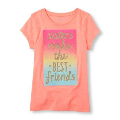Girls Short Sleeve Sisters Make The Best Friends Graphic Tee - The Children's Place