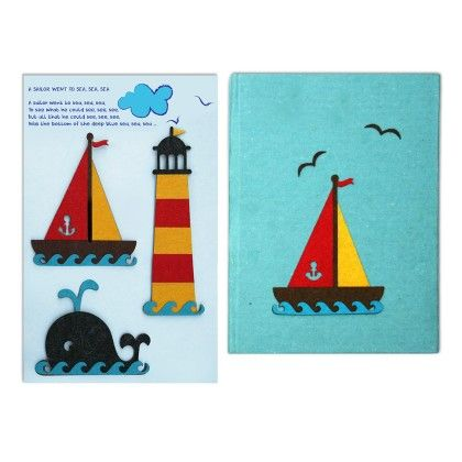 Combo Nautical Diary With Nautical Fridge Magnets - Two For Joy