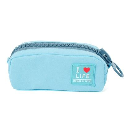 Quirky Big Zip Pouch (light Blue) - It's All About Me