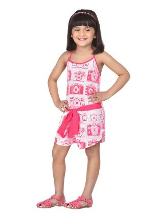 Strawberry Cheesecake Delightful Playsuit With Bow - Masaba For Magic Fairy