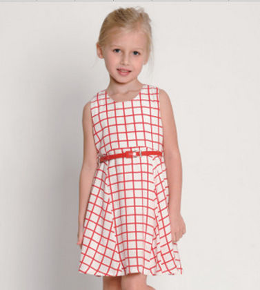 Cute Red Checked Dress - Red - NGXT