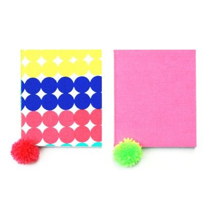 Set Of 2 Pocket Canvas Diaries - Two For Joy - 333473