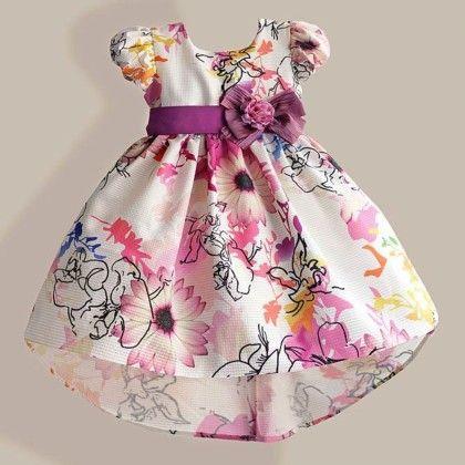 Vintage Multi Printed Party Dress - Petite Kids