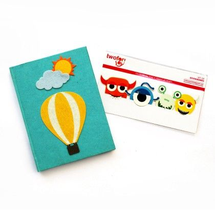 Combo Hotair Balloon Diary With Bookmarks - Two For Joy