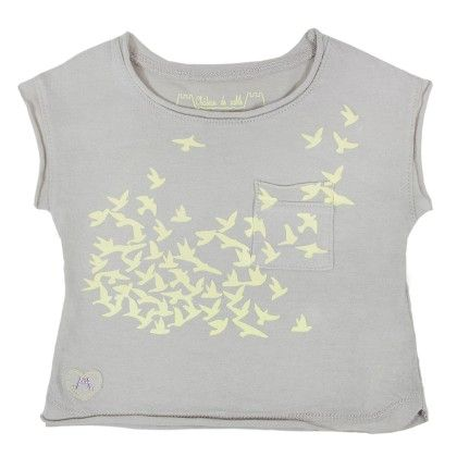 Louise Girl T- Shirt Yellow Printed - Chateau De Sable
