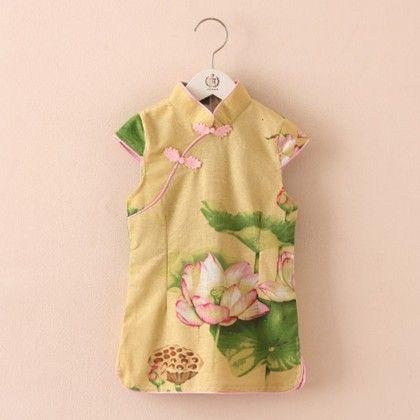 Beautiful Lotus Printed Short Tunic Dress - Mauve Collection