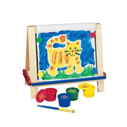Wooden Magnetic Table Top Easel With Art Materials Included - TS Shure