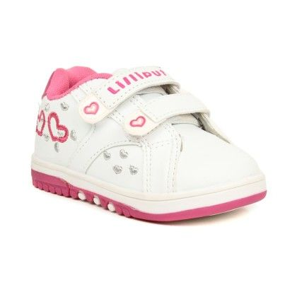 Lil Hearts Baby Sneakers - Pink And White - Lilliput