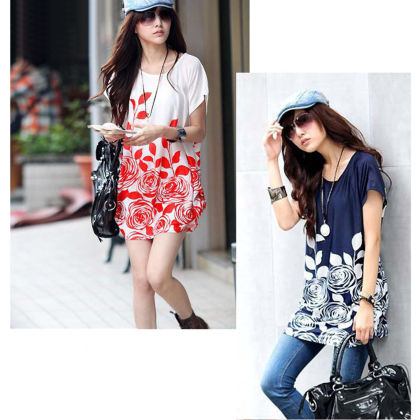 Floral Print Summer Top - Dell's World - 337268
