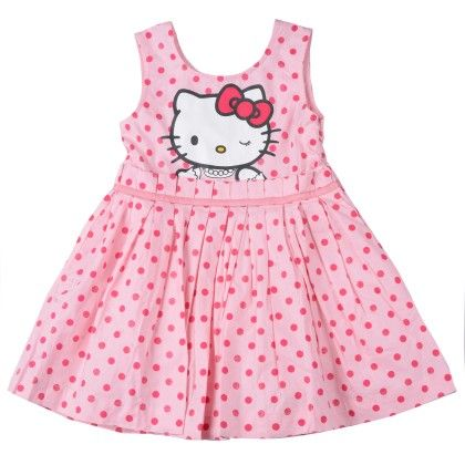 Candy Pink Hello Kitty Woven Dress - Hello_Kitty