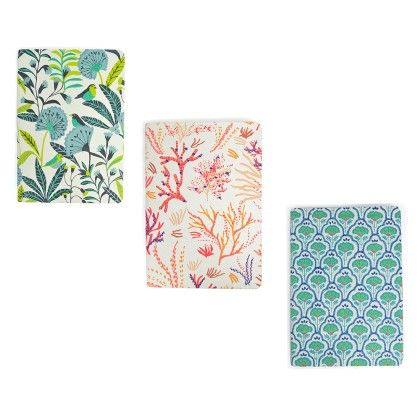 Set Of 3 Soft Cover Note Book  Multi-color - RATAN JAIPUR