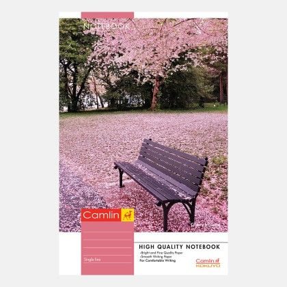 Camlin Long Notebook -  Soft Cover 160 Pages Single Line