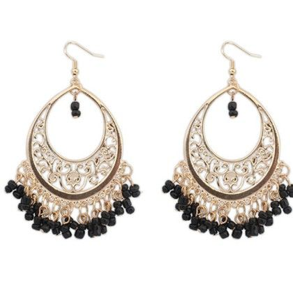 The Arabic Beauty Drop Earrings - The Purple Present