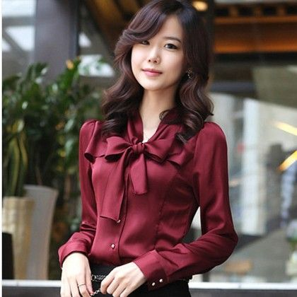 Bow Style Red Color Formal & Casual Shirt - STUPA FASHION