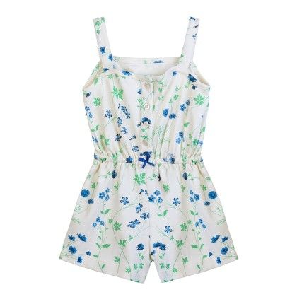 Yellow Floral Printed Sleeveless Playsuit - Chic Bambino
