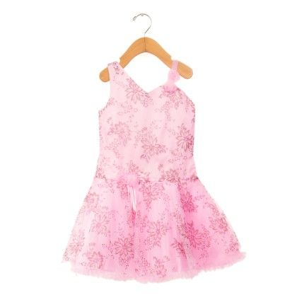 Pink Floral Printed Sleeveless-dress - ChipChop