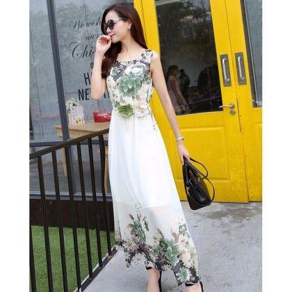 Multi - Color Floral Print Dress - Dell's World
