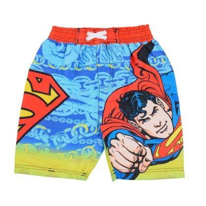 Sky Blue Superman Print Shorts