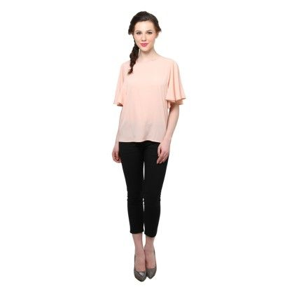Xny Peach Bell Sleeves Top