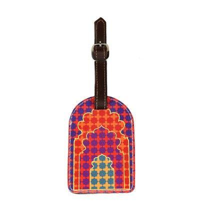 Mehrab Luggage Tag - Pink - The Elephant Company