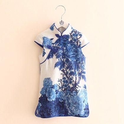 Beautiful Short Blue Tunic Dress - Mauve Collection
